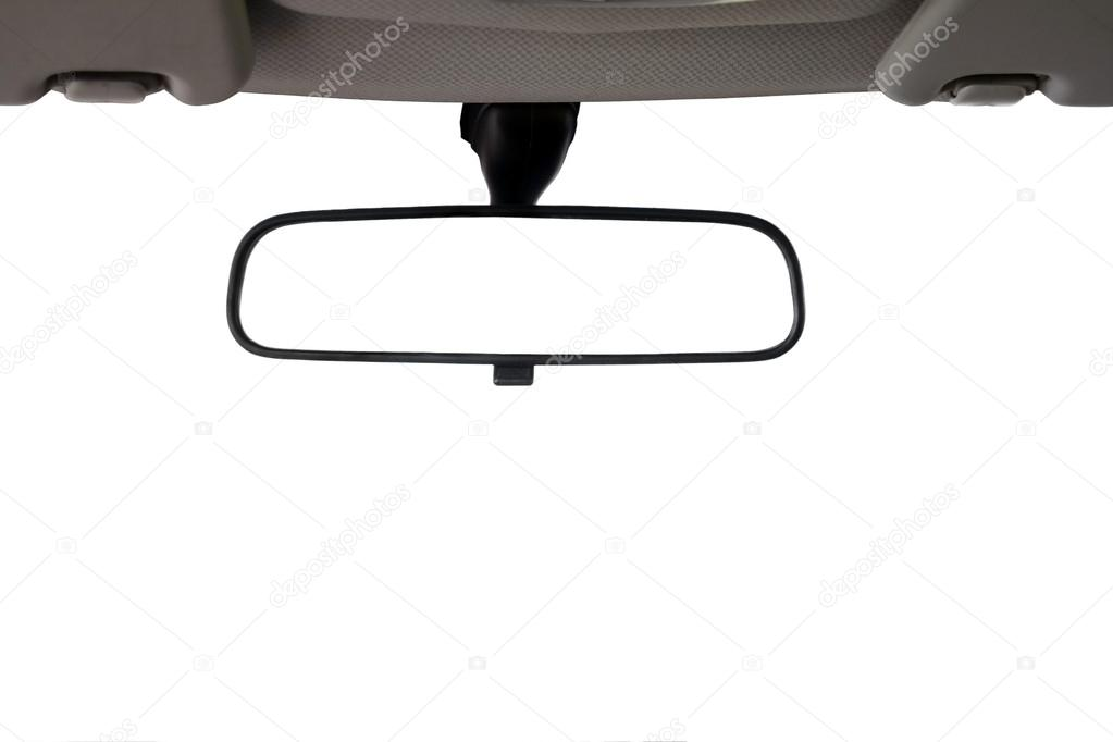 Car Rear view mirror isolated