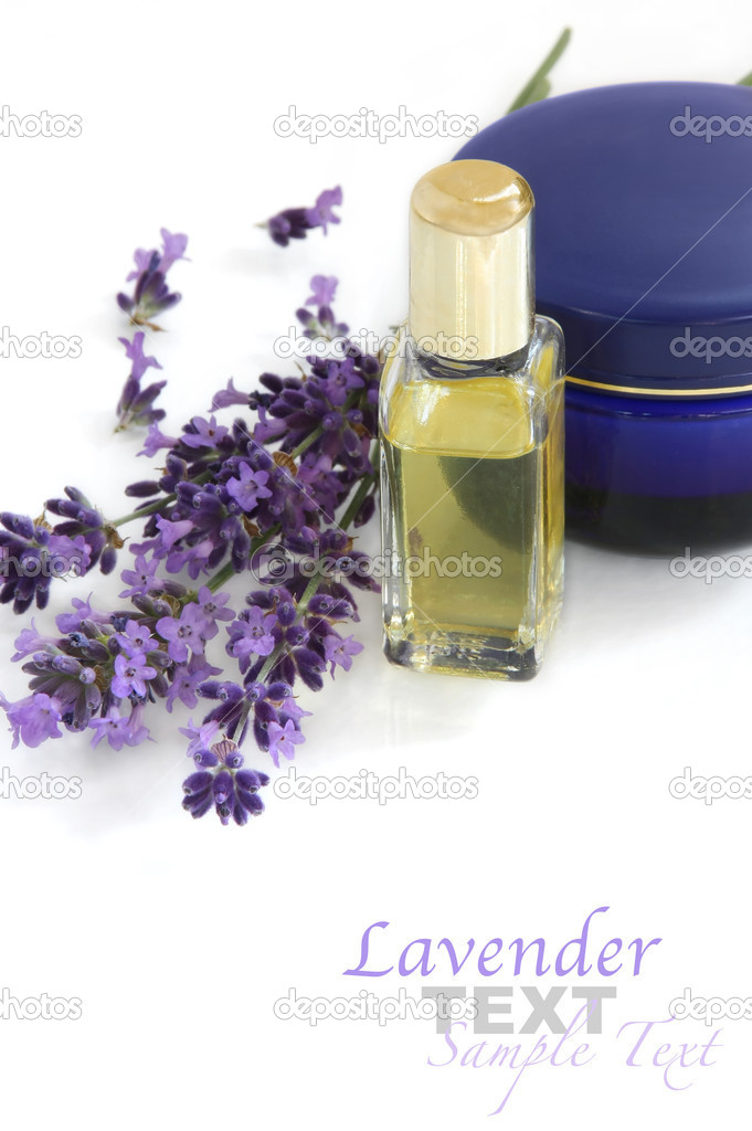 Lavender with cosmetics