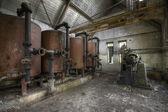 interiéry opuštěné továrně