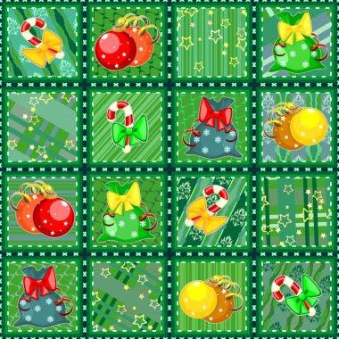 Christmas seamless quilt texture