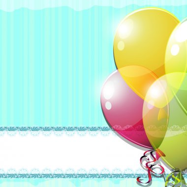 Vintage card with balloons