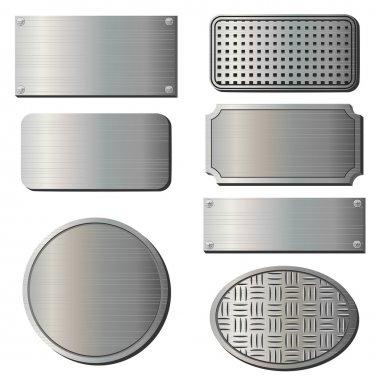 Textured metal plates
