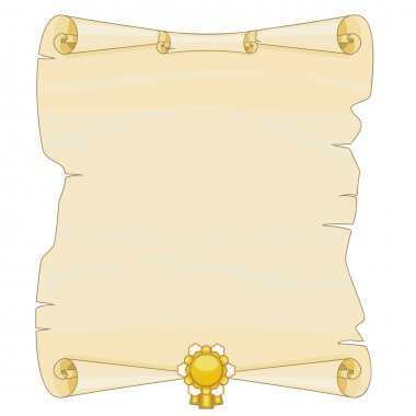 Old parchment with gold decoration