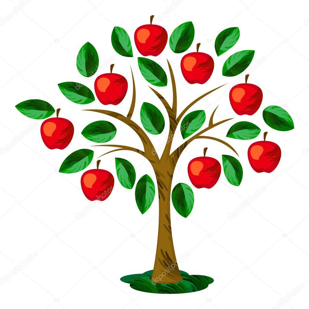 Výsledek obrázku pro kreslena jablon