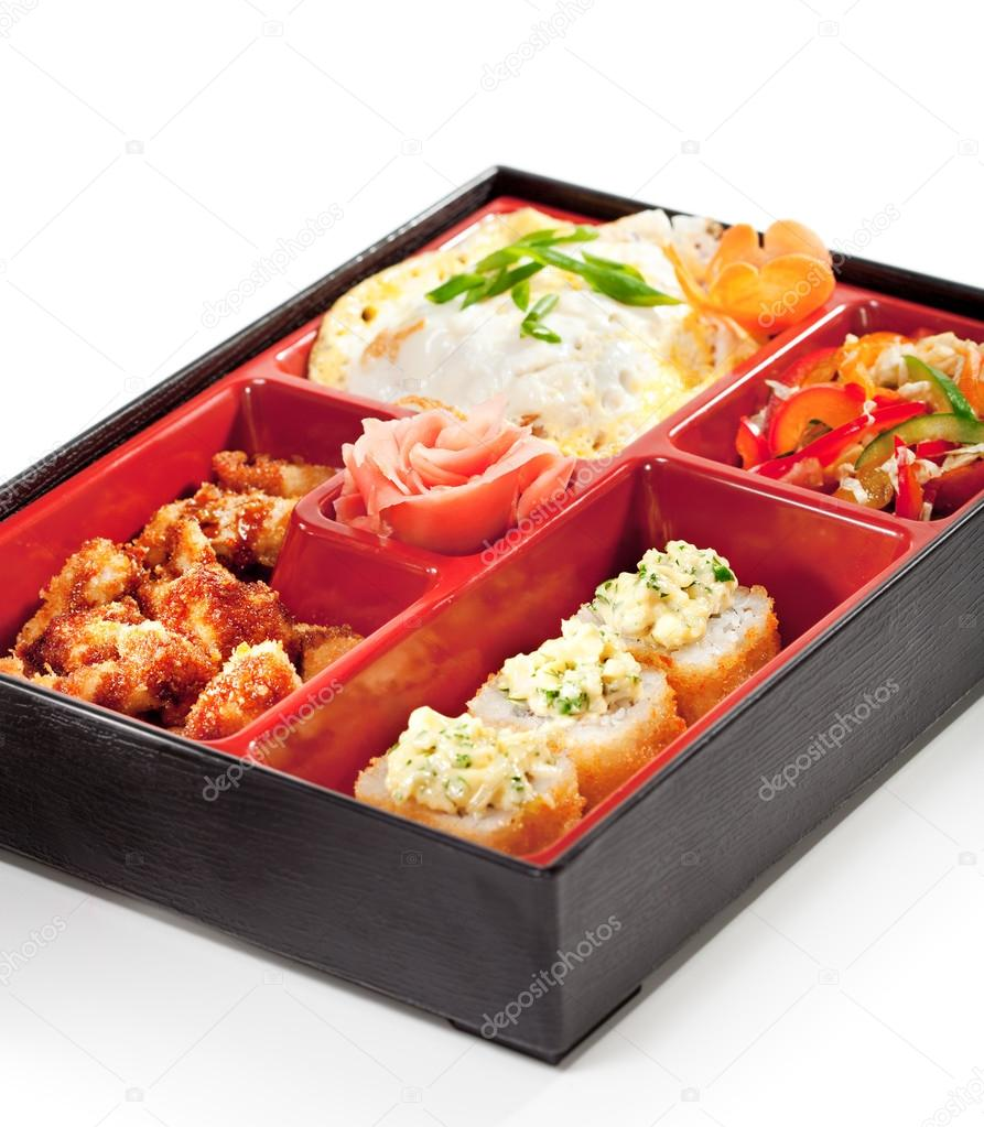Japanese cuisine bento lunch stock photo ryzhkov86 for Stock cuisine saint priest