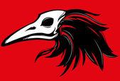 Fotografia becco di corvo teschio