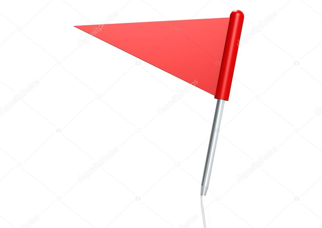 Red triangle flag pin