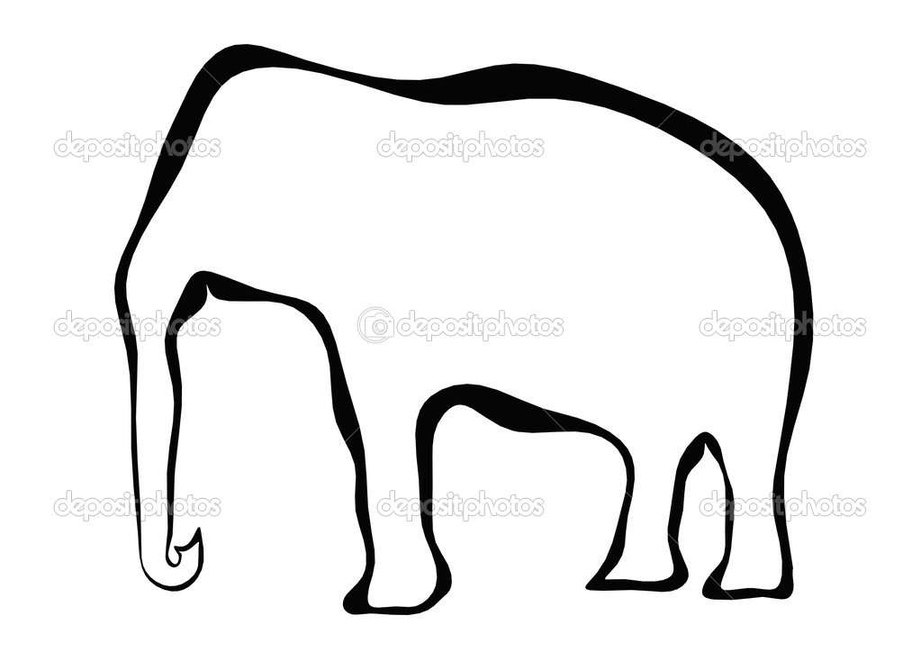 Elephant frame — Stock Photo © tang90246 #33678771