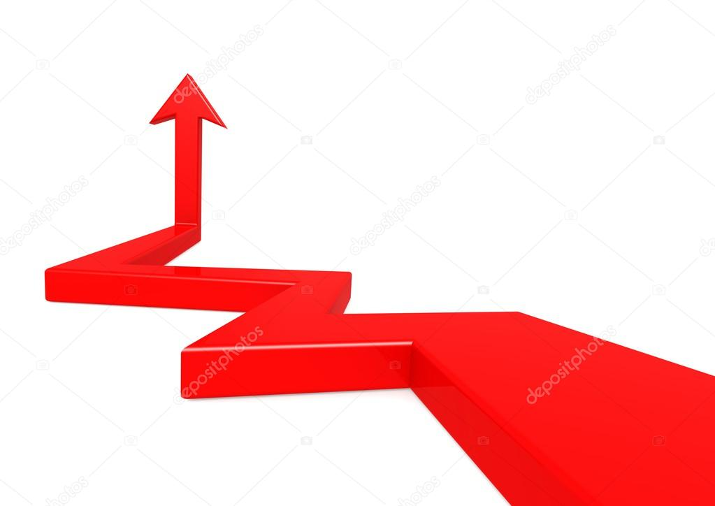 pointez vers le haut fl che rouge photographie tang90246 33679007. Black Bedroom Furniture Sets. Home Design Ideas