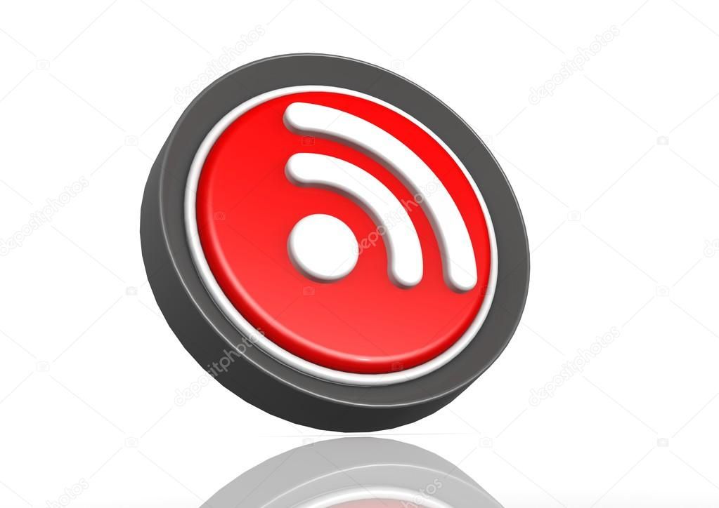rss feed round icon stock photo tang90246 34369107