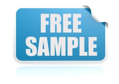 Free sample blue sticker