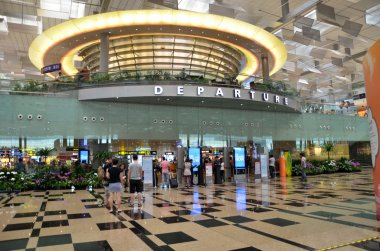 Departure hall of Changi Airport, Singapore