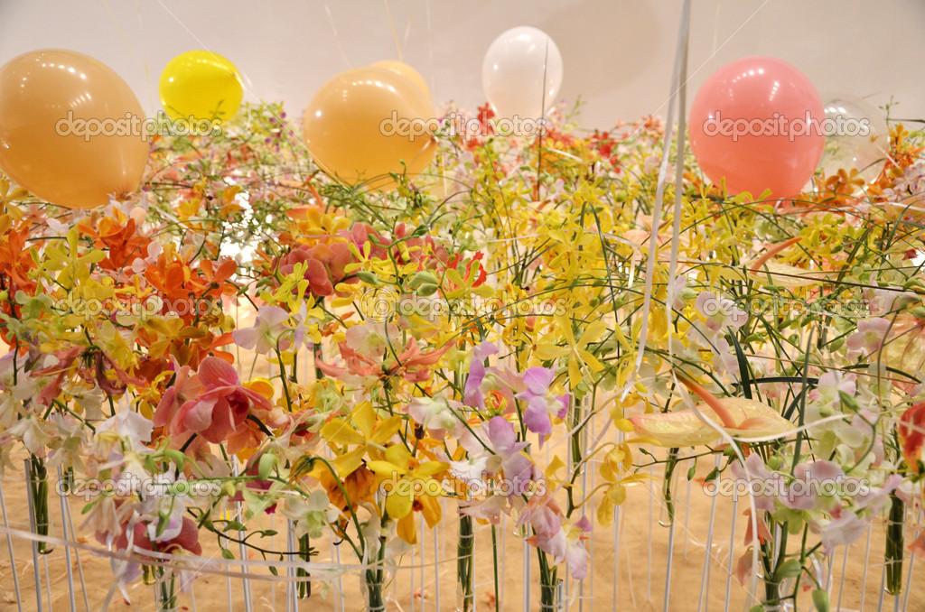 Flower Decoration In Singapore Garden Festival Stock