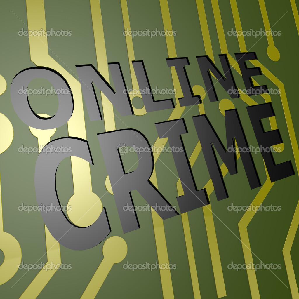 Leiterplatte mit online-Kriminalität — Stockfoto © tang90246 #46113611