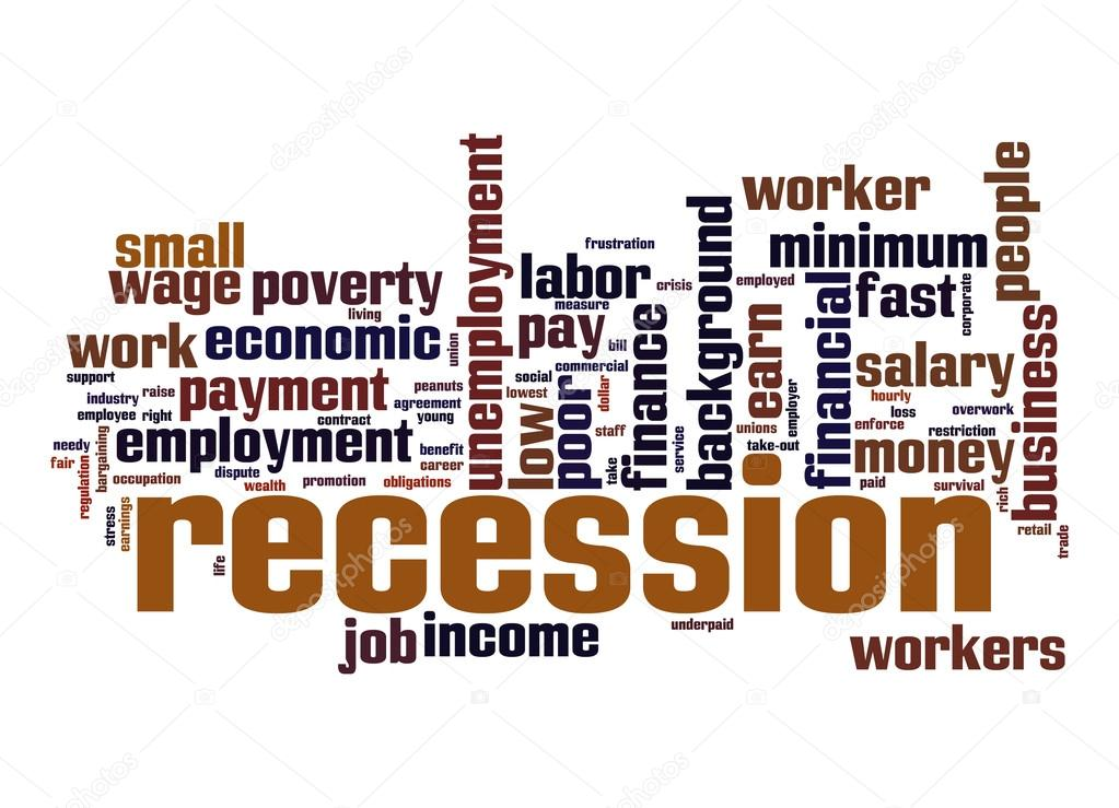 Recession Word Cloud Stock Photo Tang90246 47128221