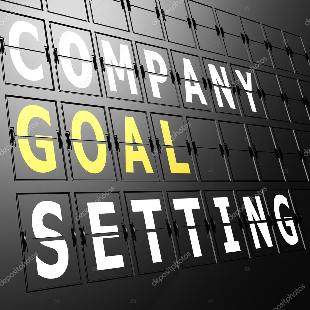 Airport display company goal setting — Stock Photo
