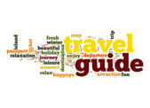 Fotografie Travel guide word cloud