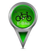 Fotografie Kartenzeiger mit E-Bike