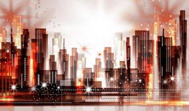 Abstract city landscape vector clip art vector