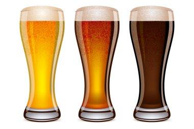 Illustration of beer glasses