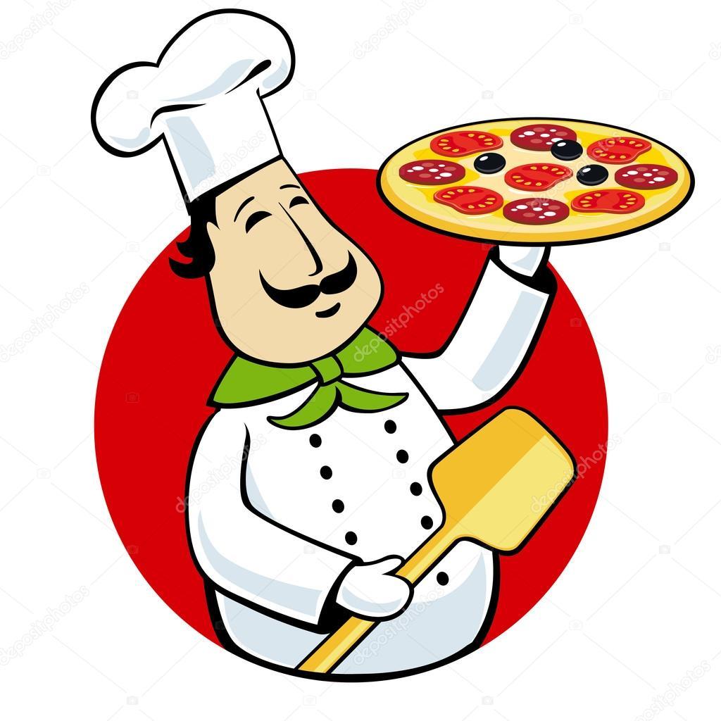 chef holding pizza on a tray stock vector  u00a9 kalmatsui italian chef clip art free italian chef clip art free