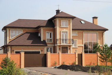 Cottage country house of bricks
