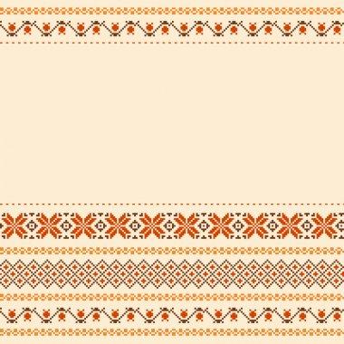 Folk style textile background