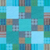 Fabric seamless pattern patchwork style