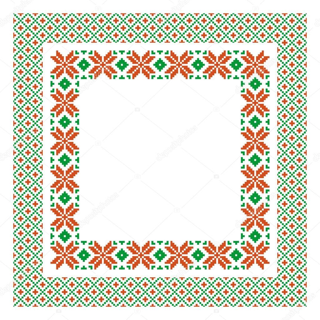 plantilla marco bordado — Archivo Imágenes Vectoriales © Irmairma ...
