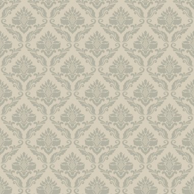 Classic vintage seamless wallpaper, damask ornamental pattern stock vector
