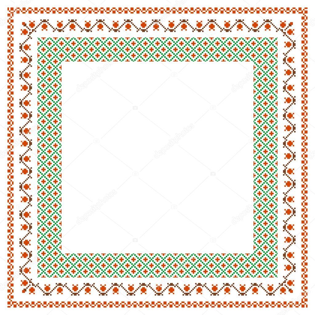 marco bordado — Archivo Imágenes Vectoriales © Irmairma #13755441