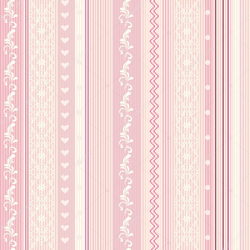 rosa randig tapet
