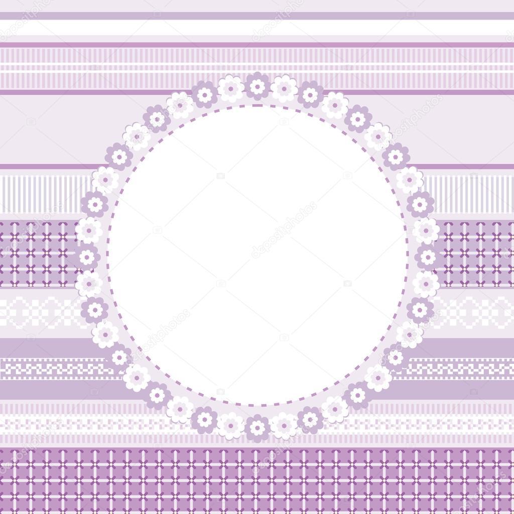 plantilla de tarjeta decorativa, invitación o marco — Vector de ...