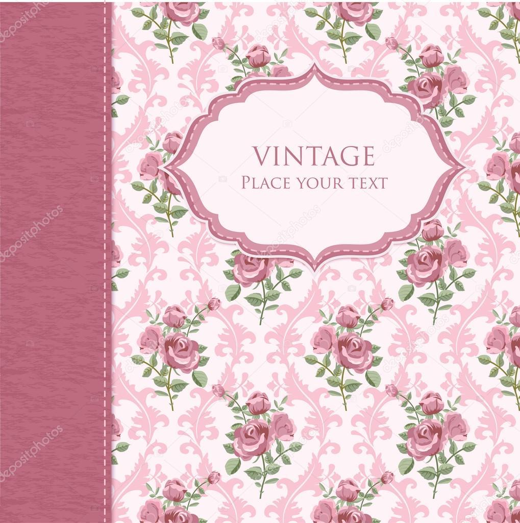 Vintage Flower Background Stock Vector C Irmairma 24784679