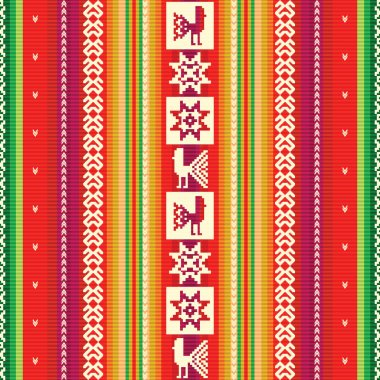 South american colourful fabric pattern