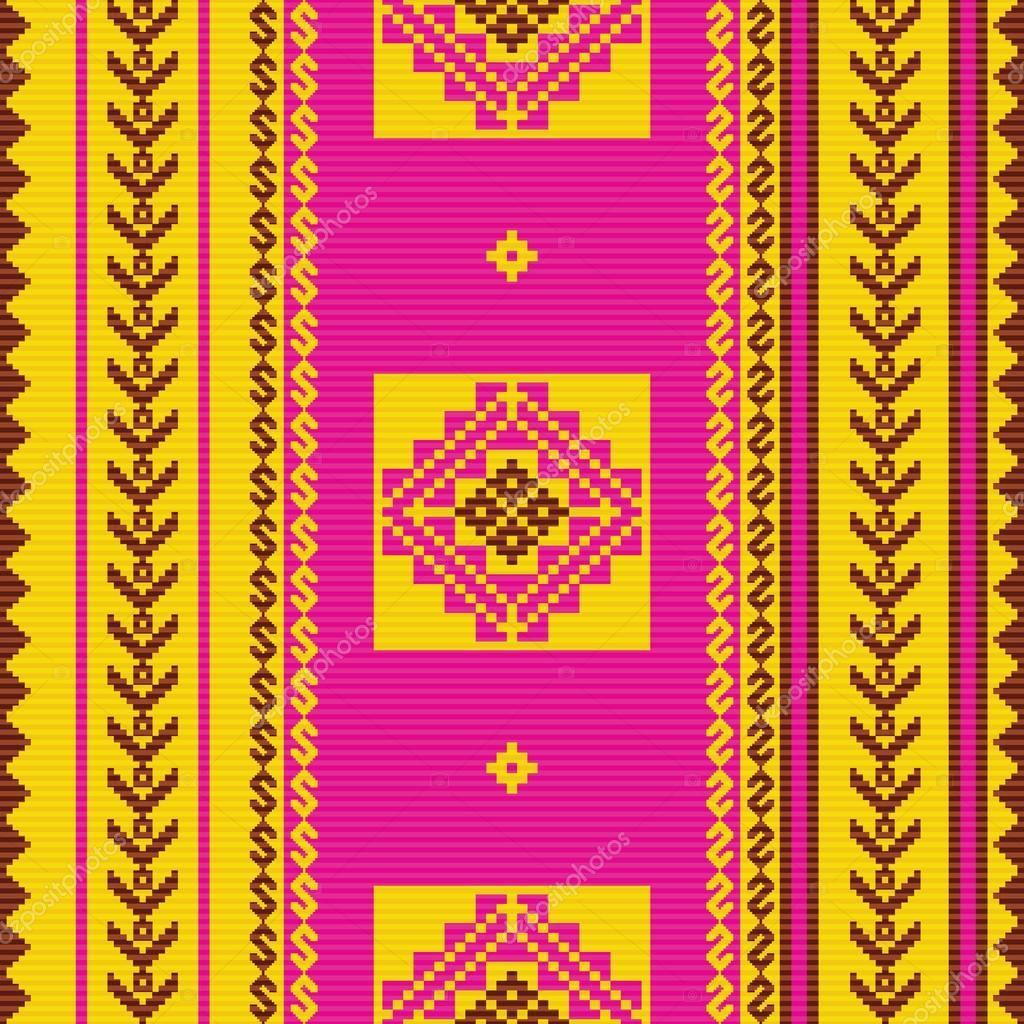 Patr n ornamental de la tela del americano del sur for Telas del sur