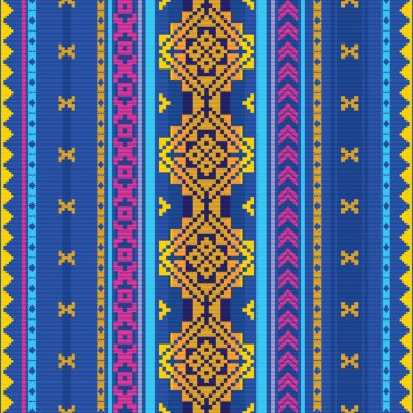 Ethnic textile striped pattern