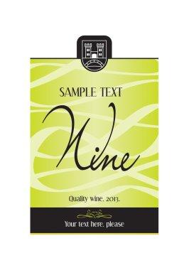 Wine label design - vector