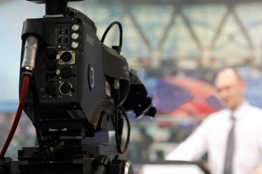 TV-camera In Newsroom