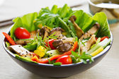 Fotografie Grilled Mushroom salad