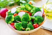 Broccoli with radish salad