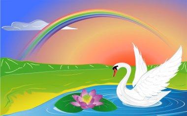 Lotus and swan