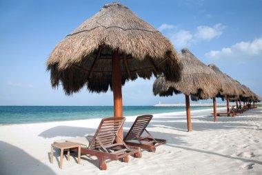 "Картина, постер, плакат, фотообои ""Пляж Плайя дель Кармен в Мексике"", артикул 13441095"