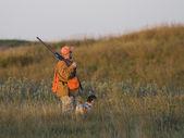 kutyája, vadász