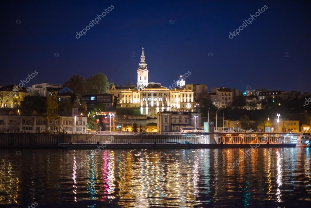 Βελιγράδι νύχτα — Φωτογραφία Αρχείου