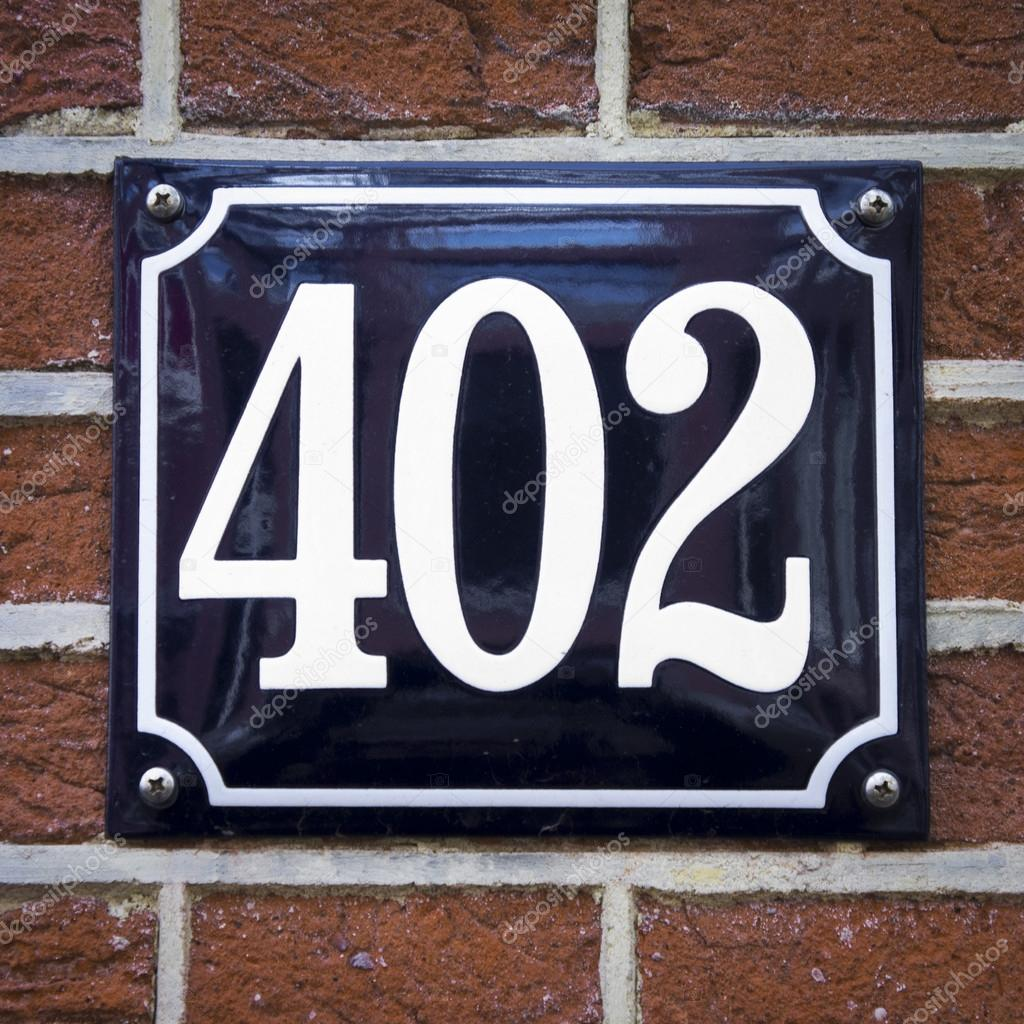 House number 402 — Stock Photo