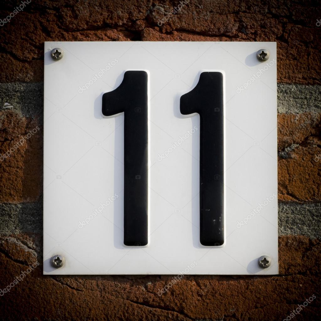 house number 11  u2014 stock photo  u00a9 papparaffie  23198468