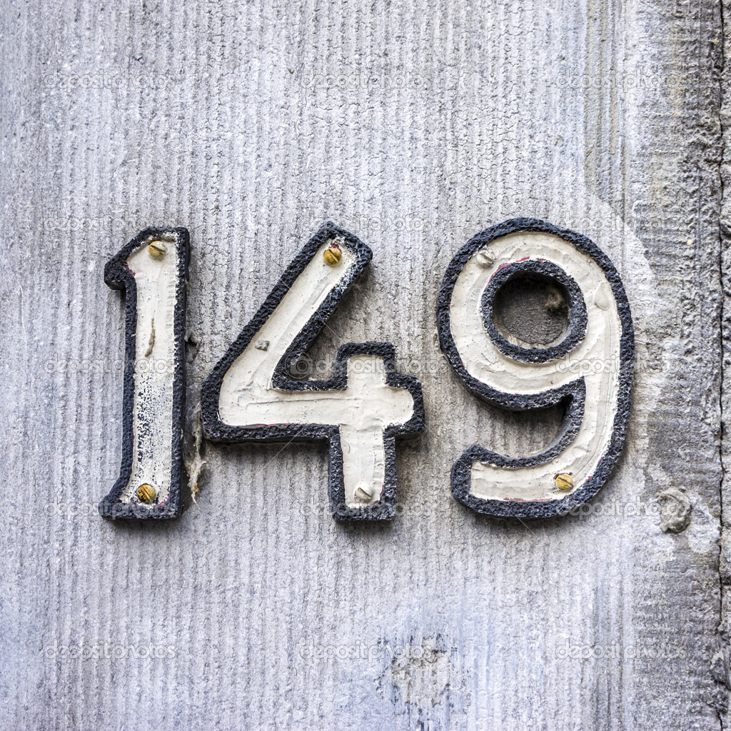 House number 149 — Stock Photo