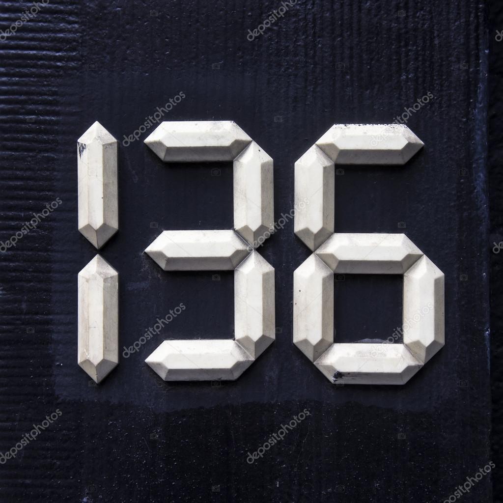 Номер 136– Стоковое изображение