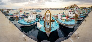 Fishing boat harbour in Larnaca